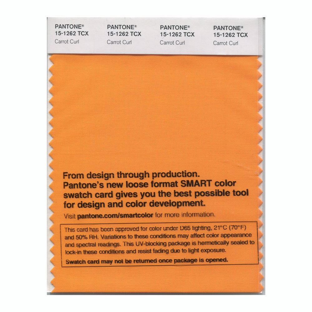 Pantone Smart Swatch 15-1262 Carrot Curl