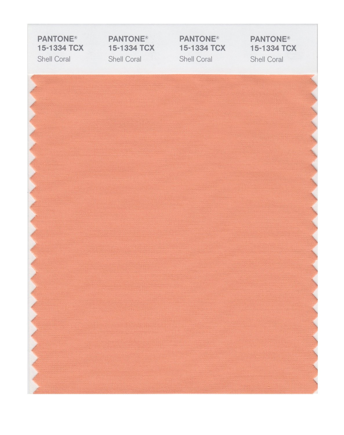 Pantone Smart Swatch 15-1334 Shell Coral