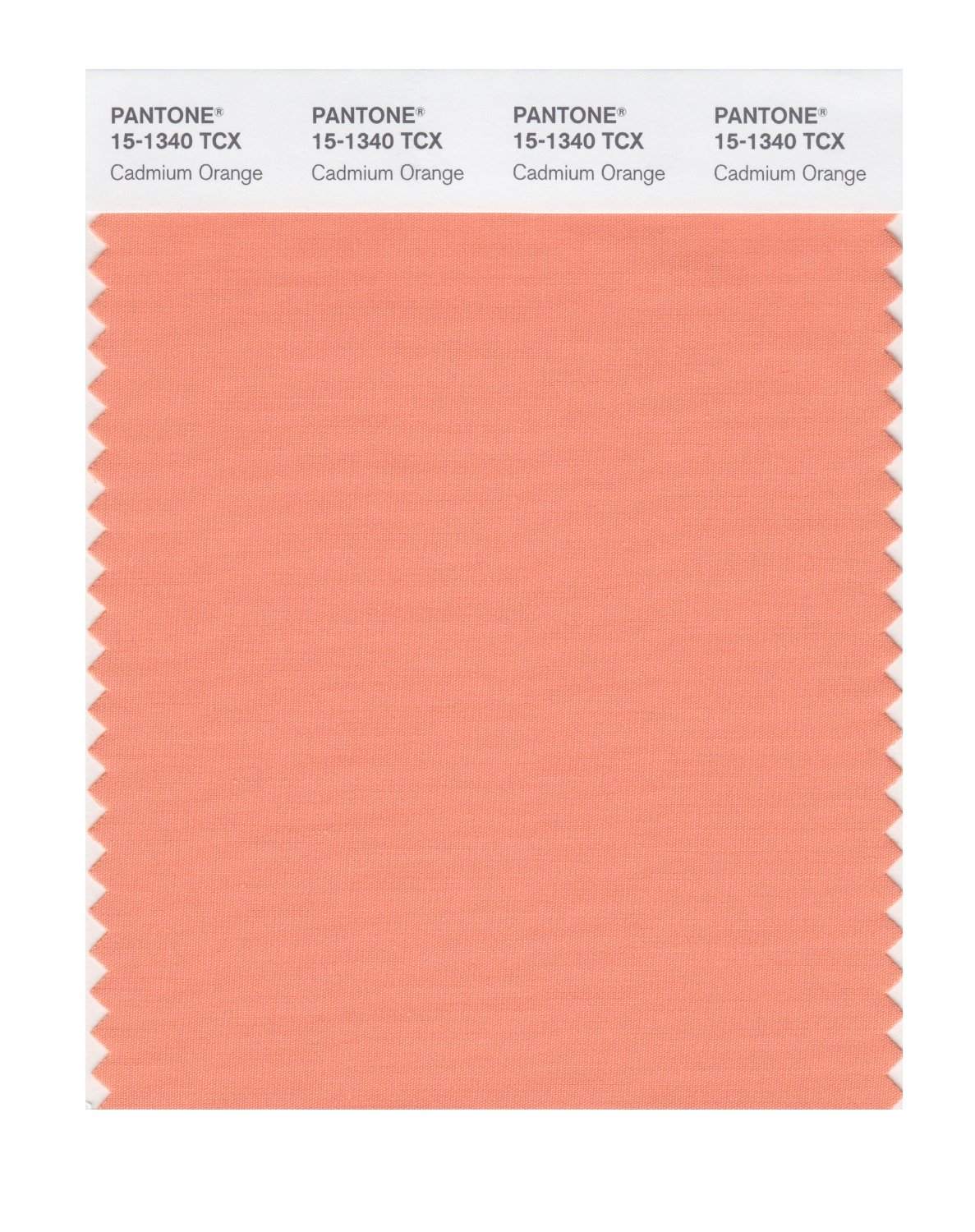 Pantone Smart Swatch 15-1340 Cadmium Orange