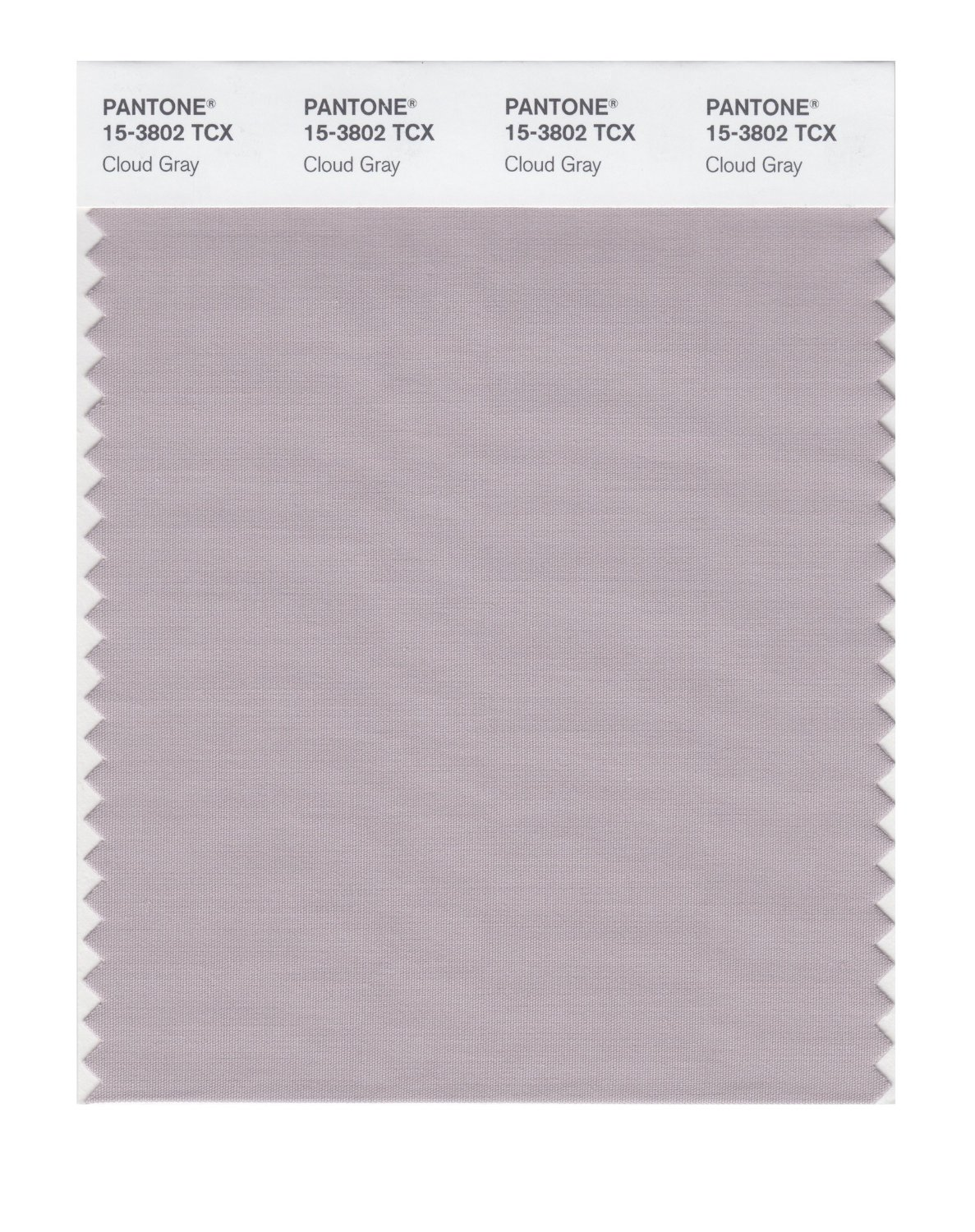 Pantone Smart Swatch 15-3802 Cloud Gray
