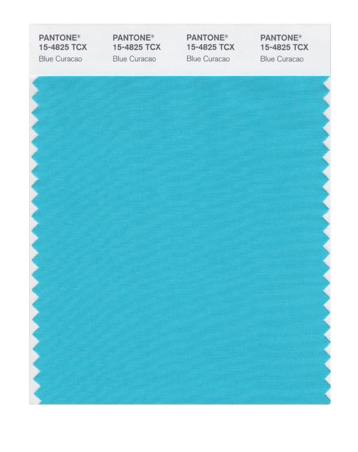 Pantone Smart Swatch 15-4825 Blue Caracao
