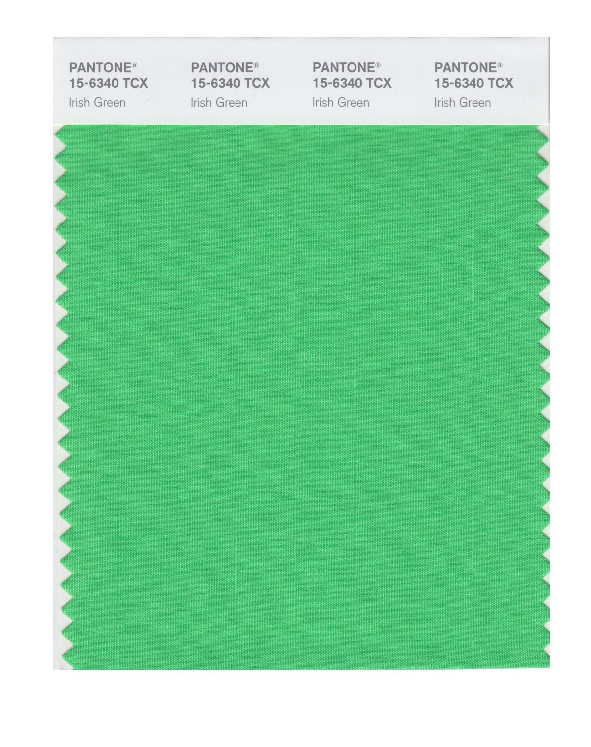 Pantone Smart Swatch 15-6340 Irish Green
