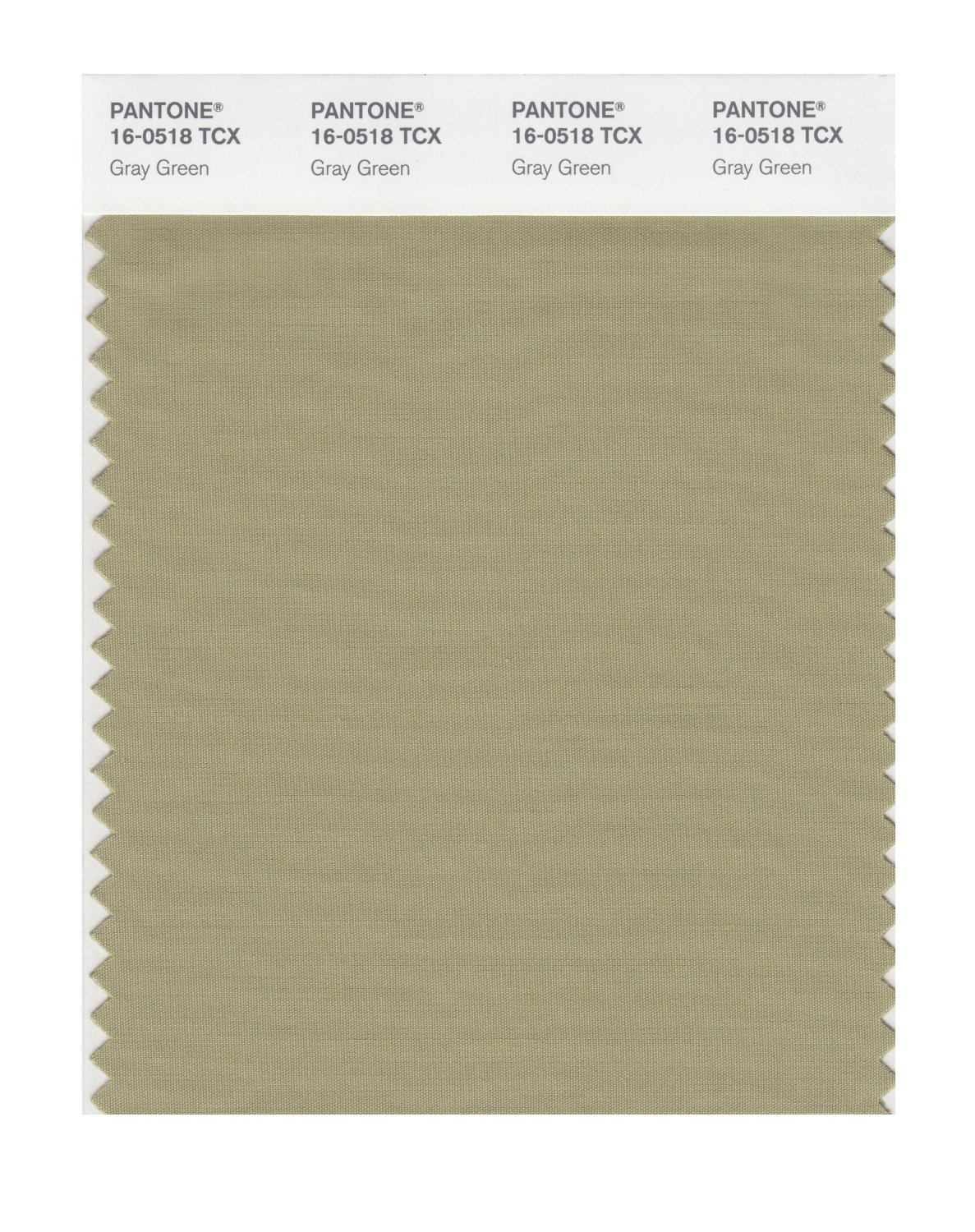 Pantone Smart Swatch 16-0518 Gray Green