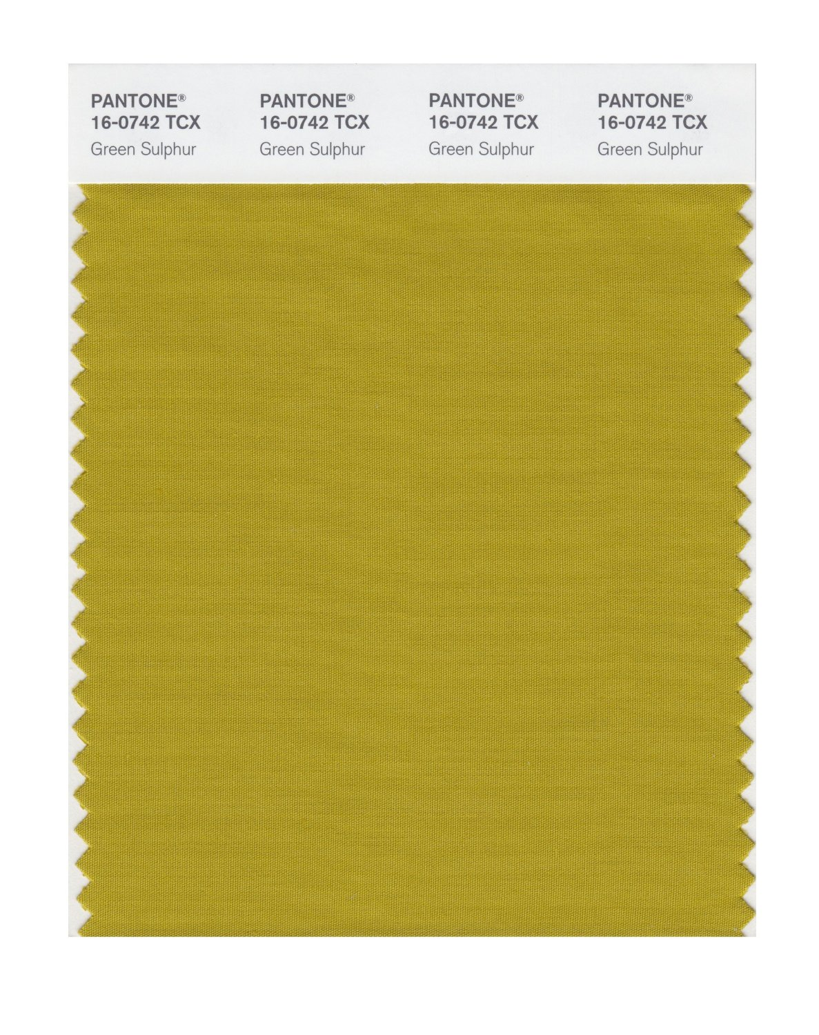 Pantone Smart Swatch 16-0742 Green Sulphur
