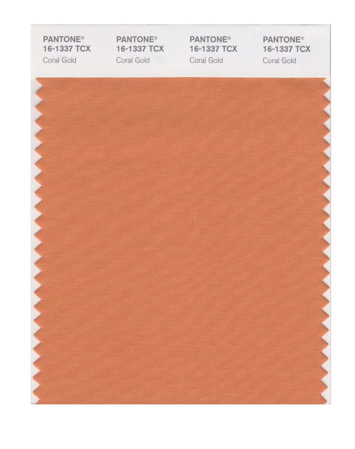 Pantone Smart Swatch 16-1337 Coral Gold