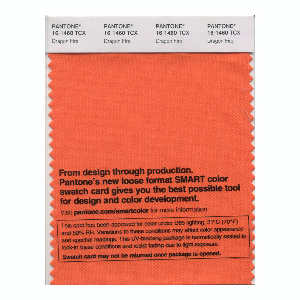 Pantone Smart Swatch 16-1460 Dragon Fire