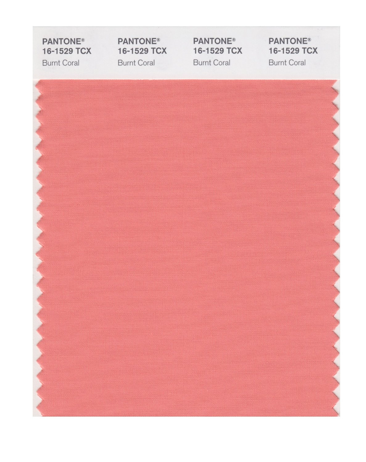 Pantone Smart Swatch 16-1529 Burnt Coral