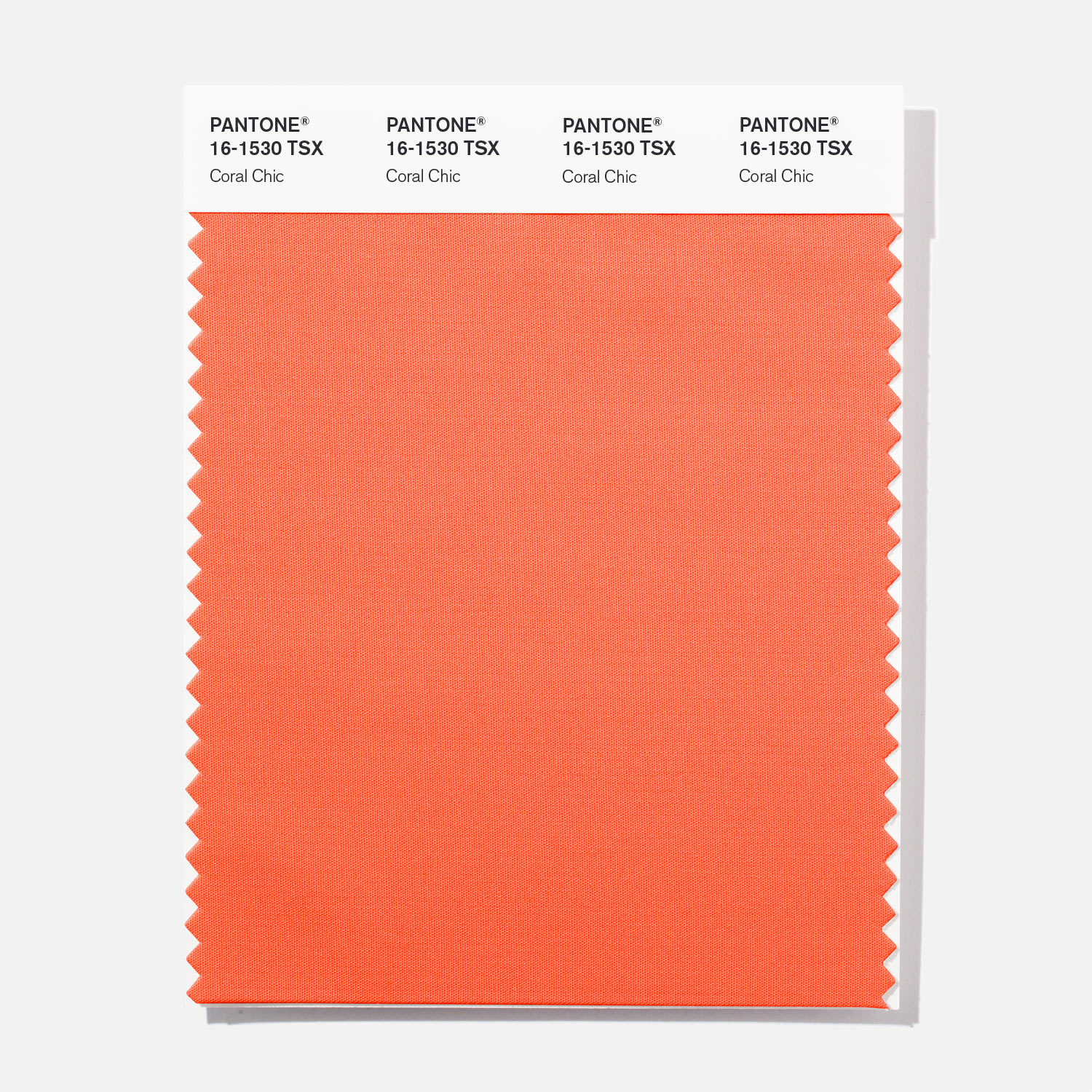 Pantone Polyester Swatch 16 1530 Coral Chic