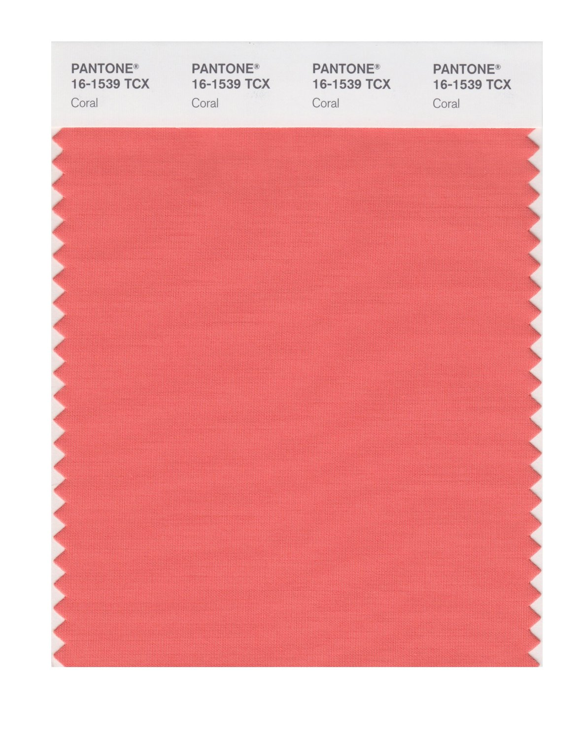 Pantone Smart Swatch 16-1539 Coral
