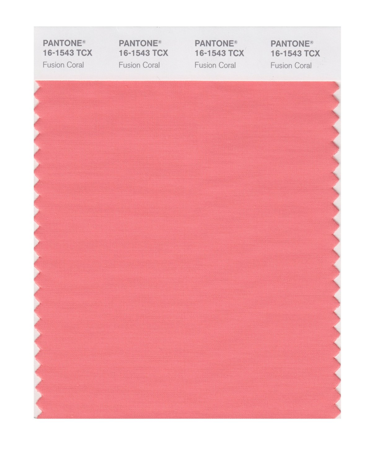 Pantone Smart Swatch 16-1543 Fusion Coral