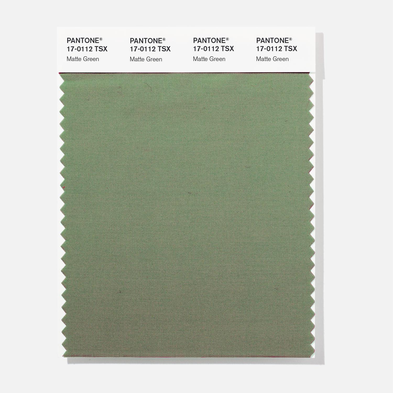 BUY Pantone Polyester Swatch 17-0112 Matte Green