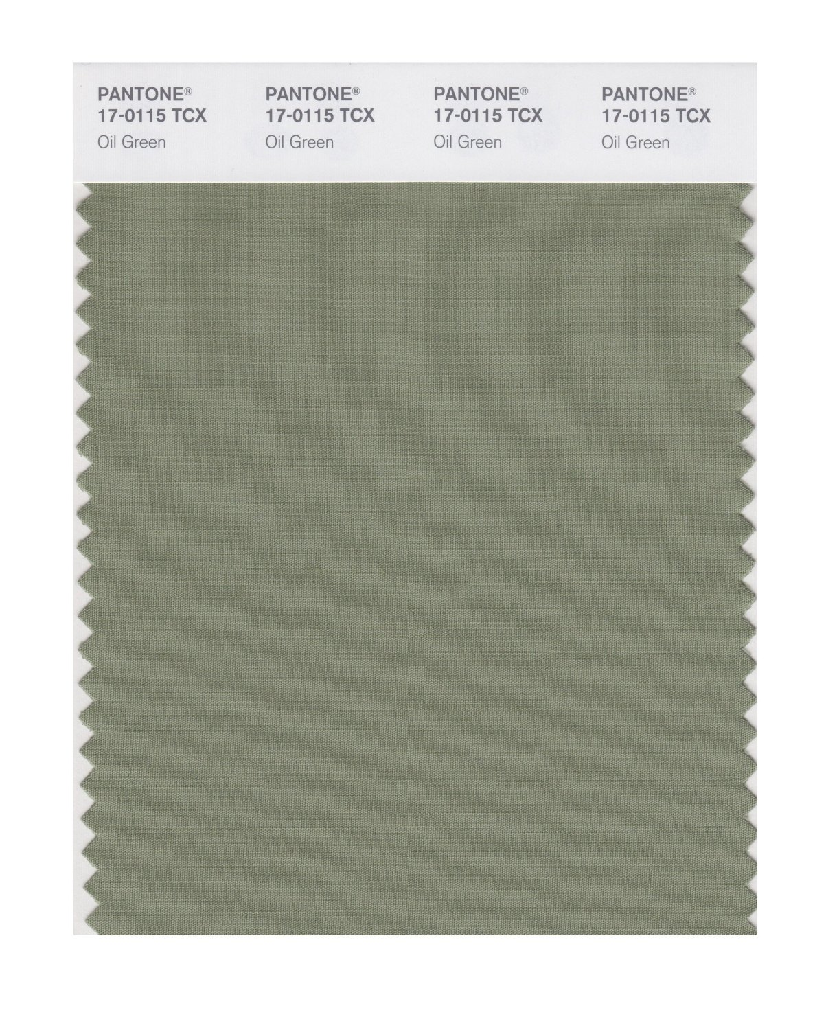 Pantone Smart Swatch 17-0115 Oil Green
