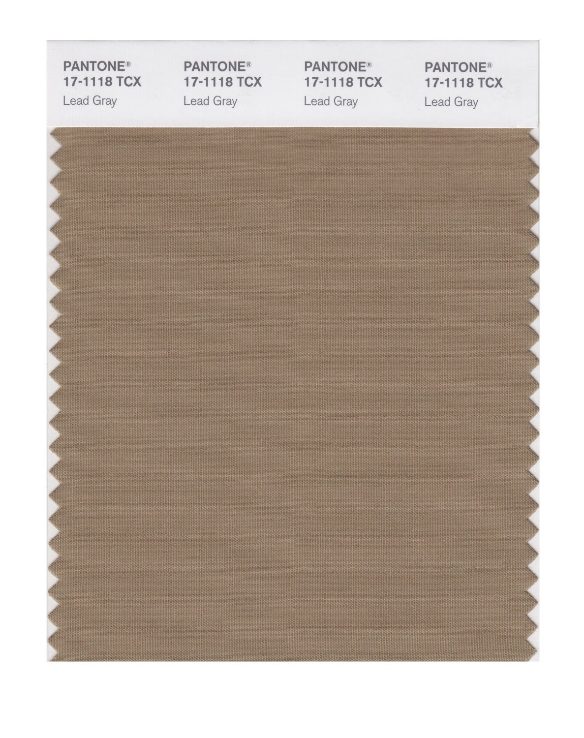 Pantone Smart Swatch 17-1118 Lead Gray