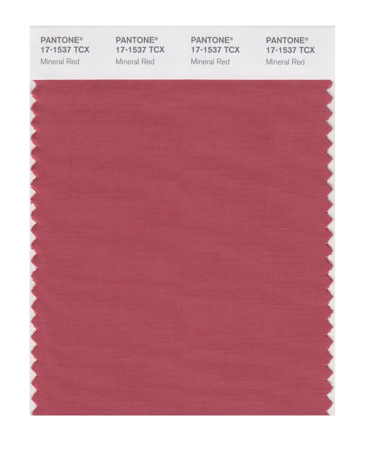 Pantone Smart Swatch 17-1537 Mineral Red