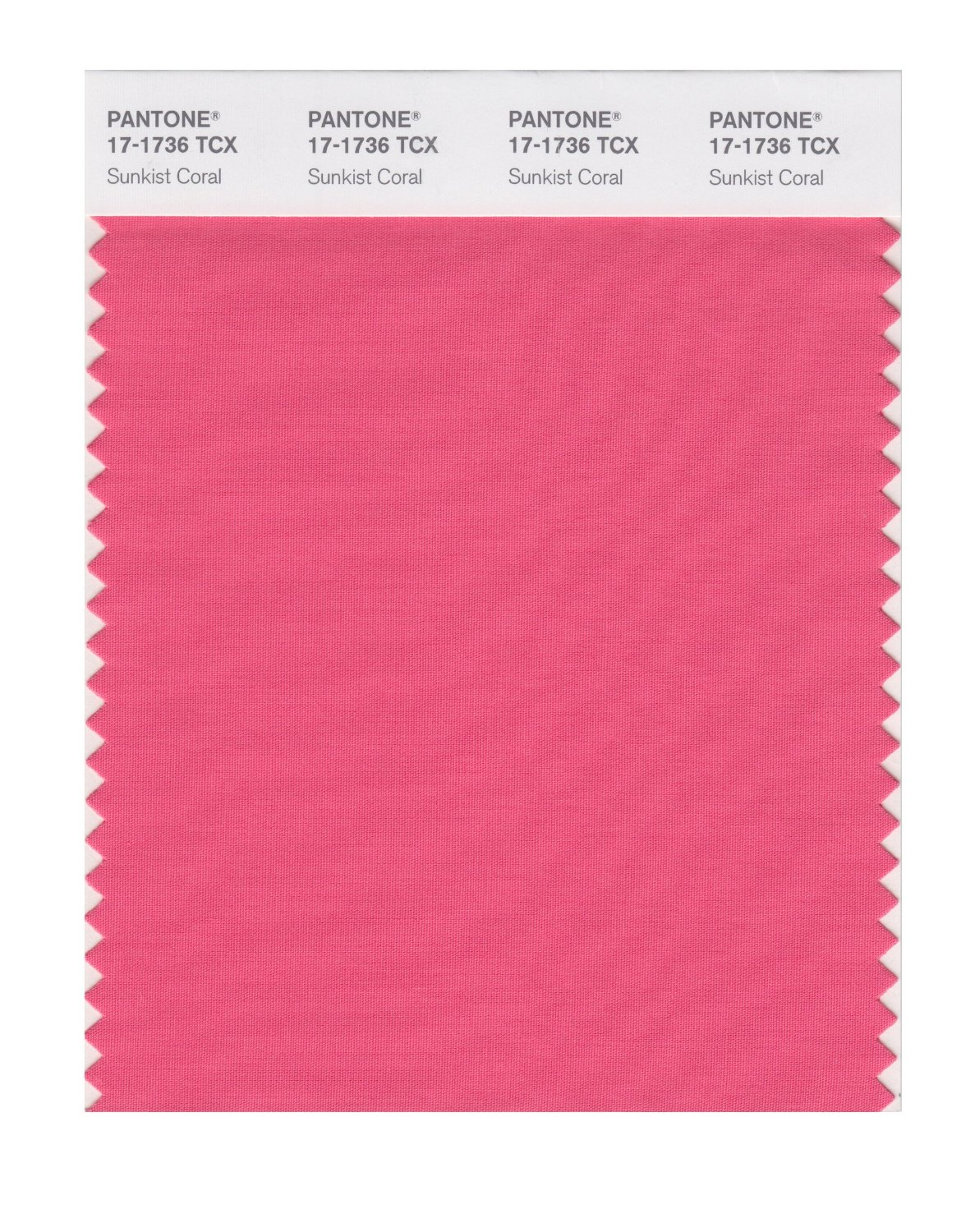 Pantone Smart Swatch 17-1736 Sunkist Coral