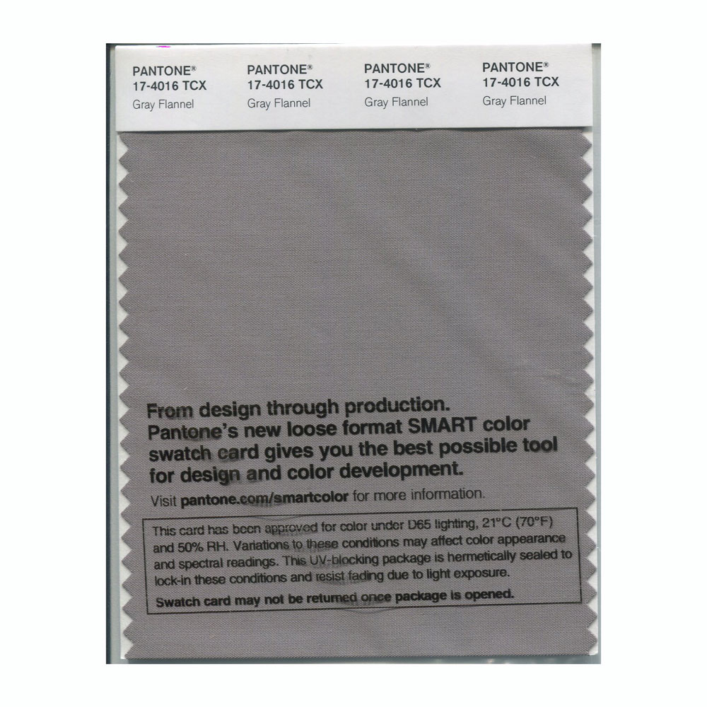 Pantone Smart Swatch 17-4016 Gray Flannel