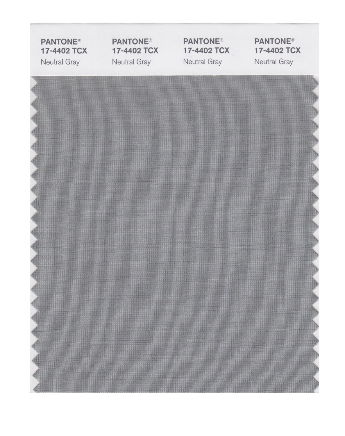 Pantone Smart Swatch 17-4402 Neutral Gray