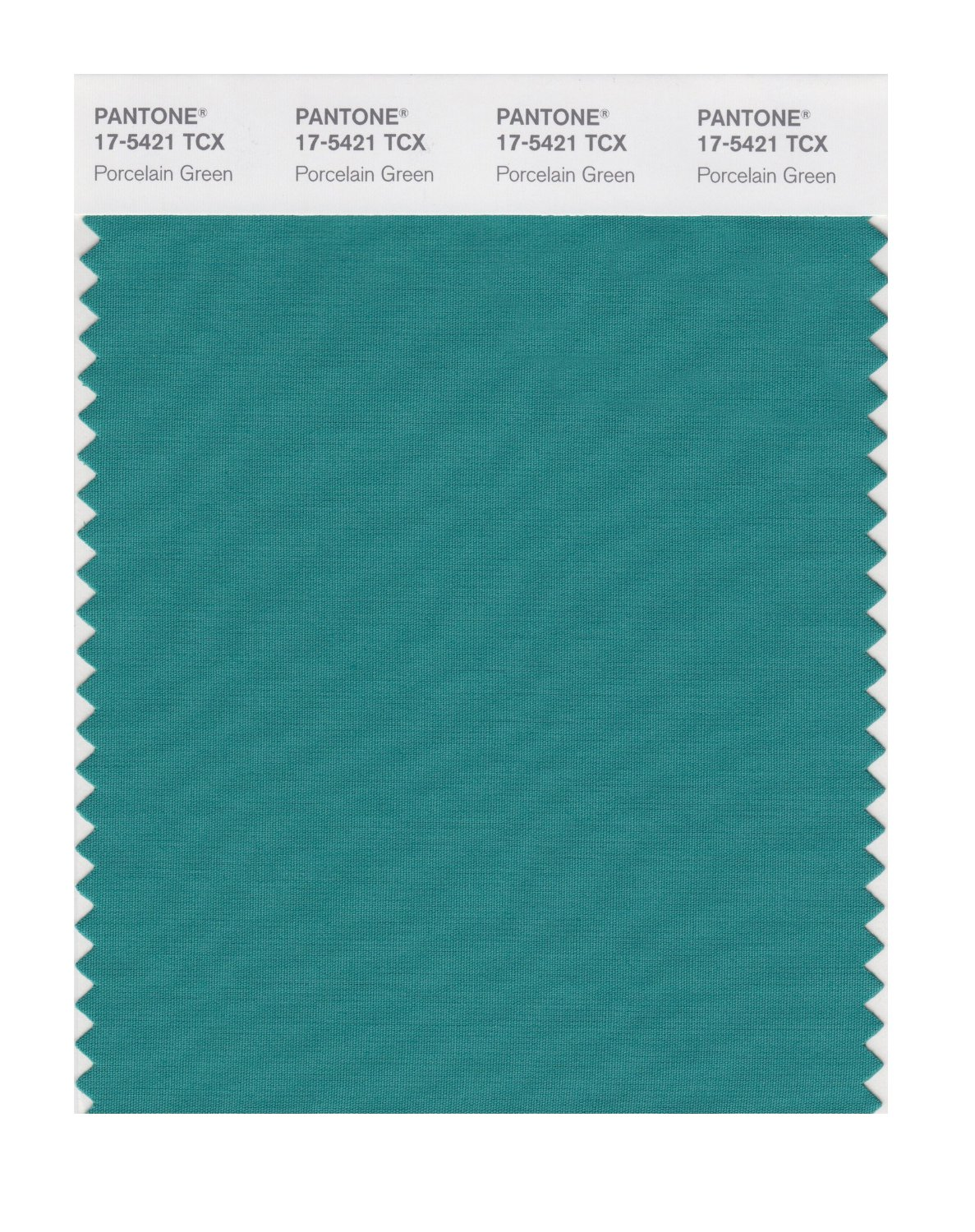 Pantone Smart Swatch 17-5421 Porcelain Green