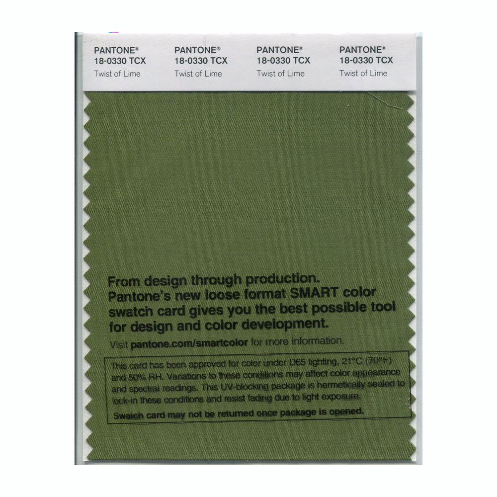 Pantone Smart Swatch 18-0330 Twist Of Lime