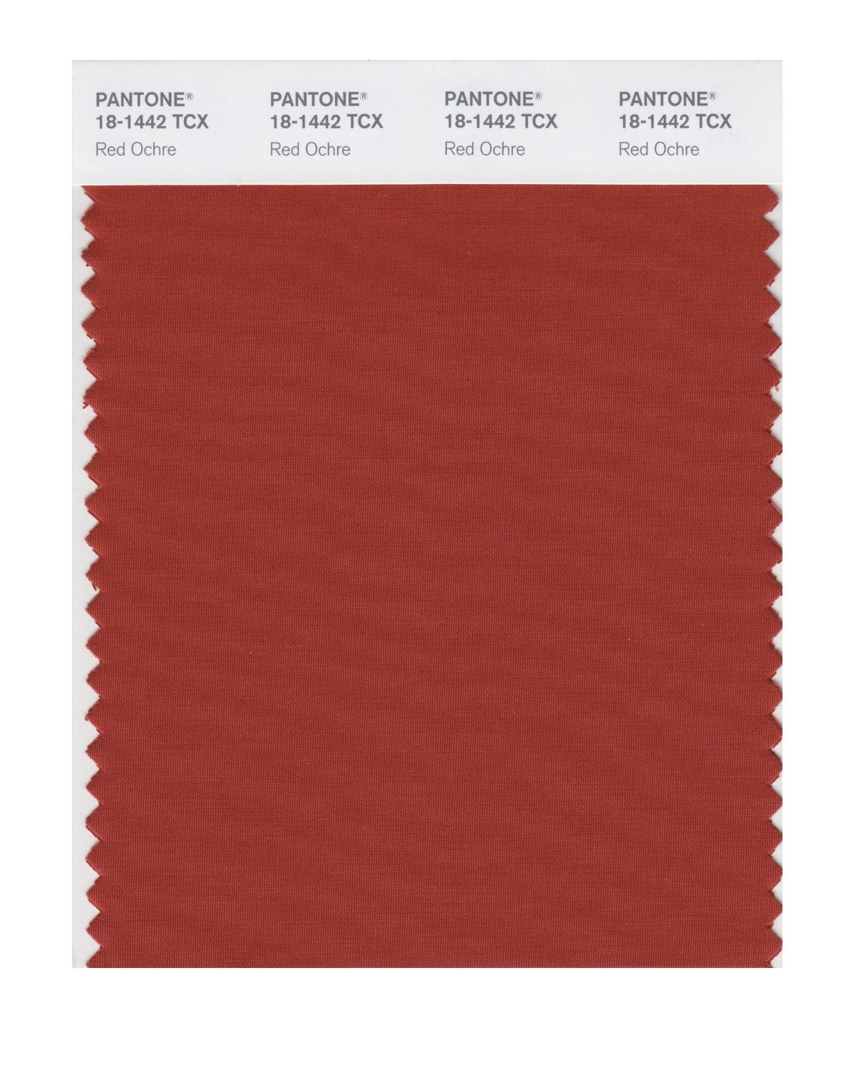 Pantone Smart Swatch 18-1442 Red Ochre
