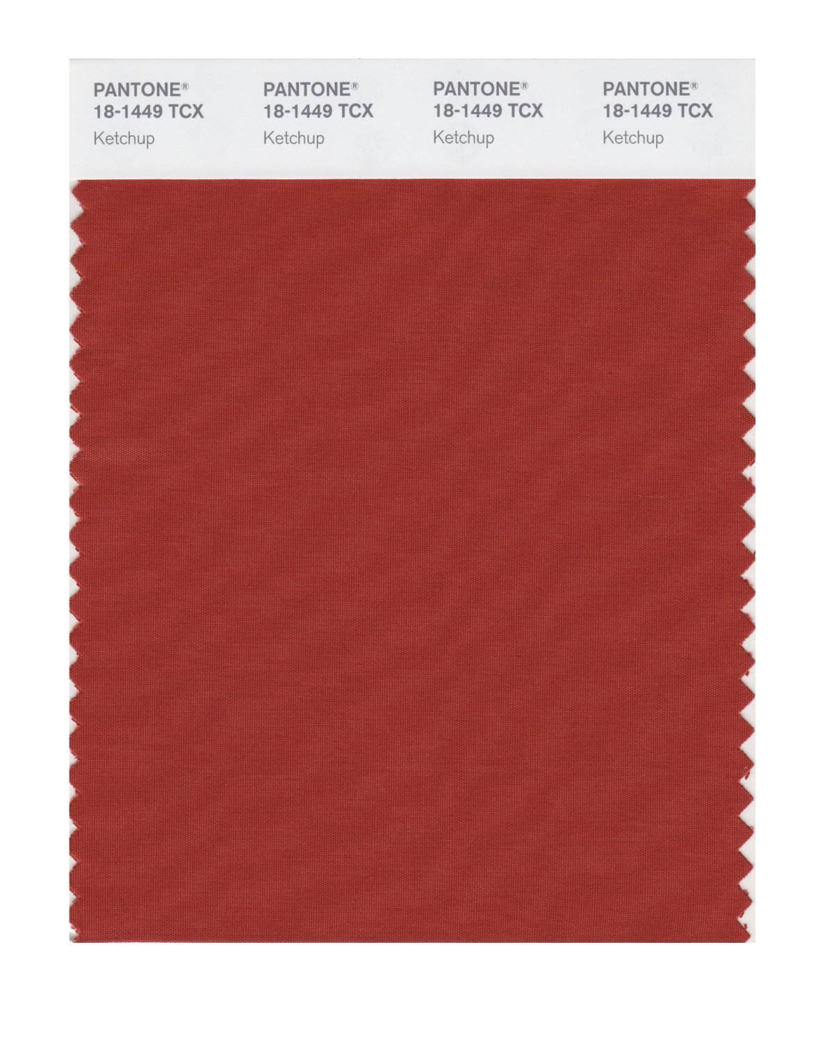 Pantone Smart Swatch 18-1449 Ketchup