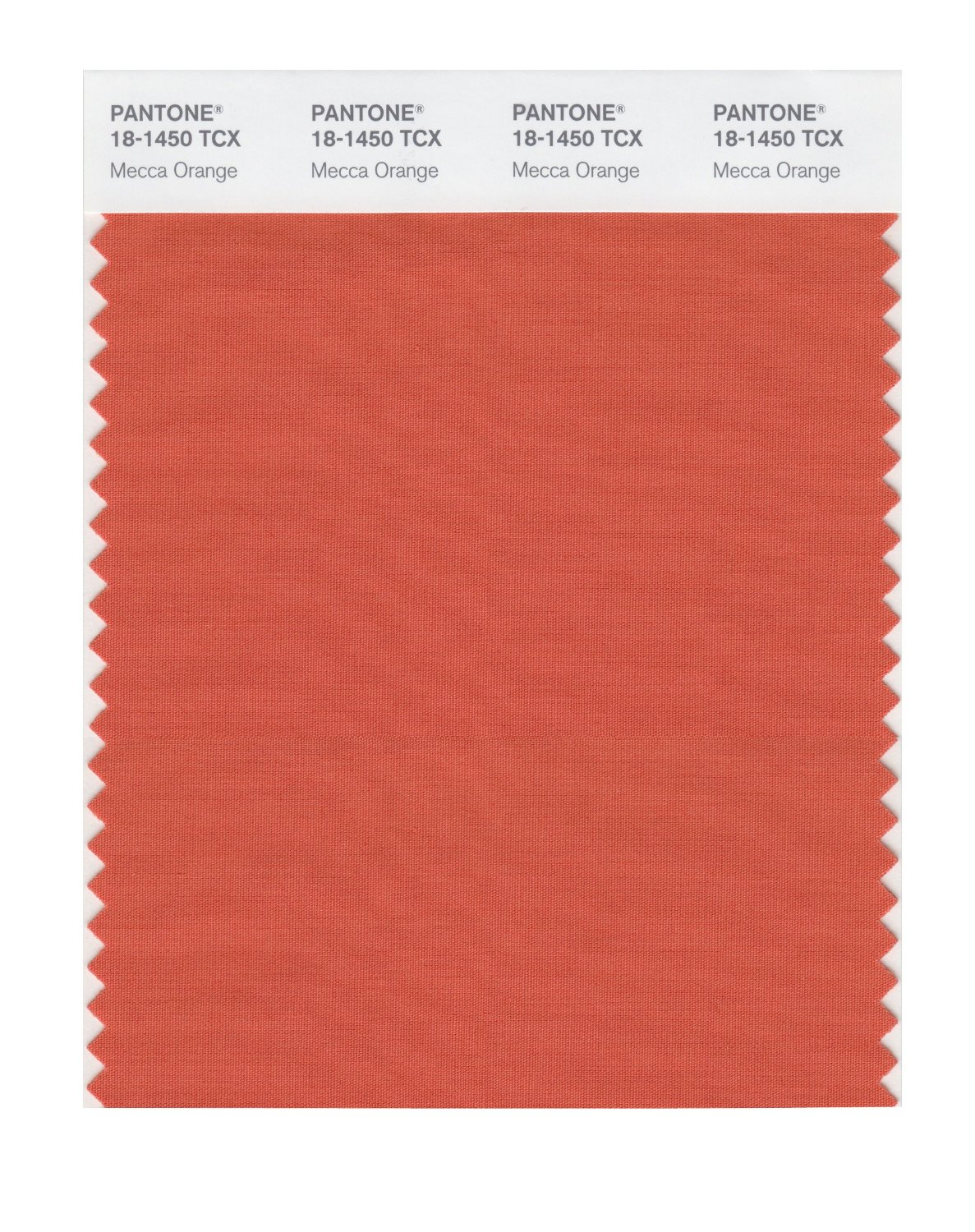 Pantone Smart Swatch 18-1450 Mecca Orange