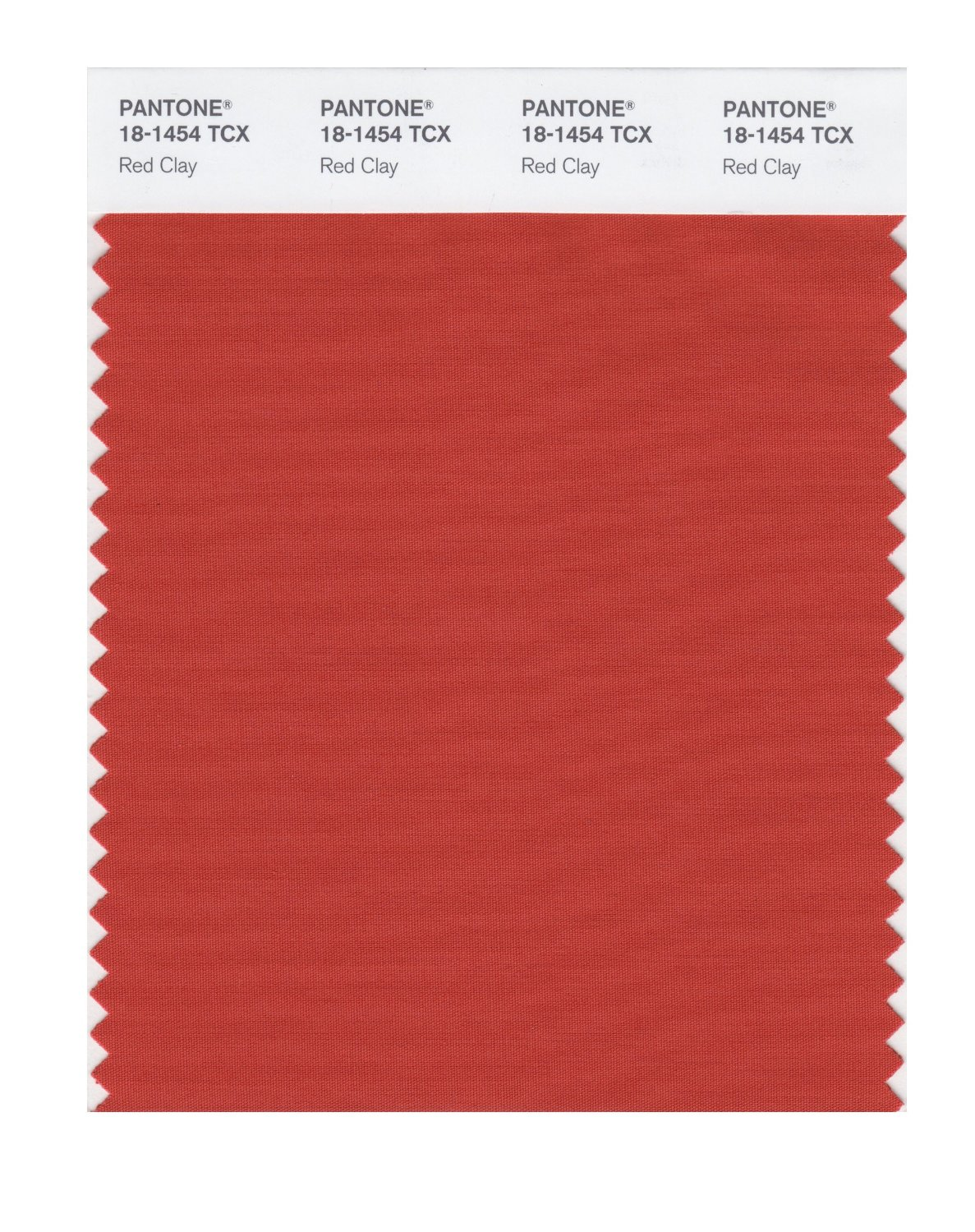 Pantone Smart Swatch 18-1454 Red Clay