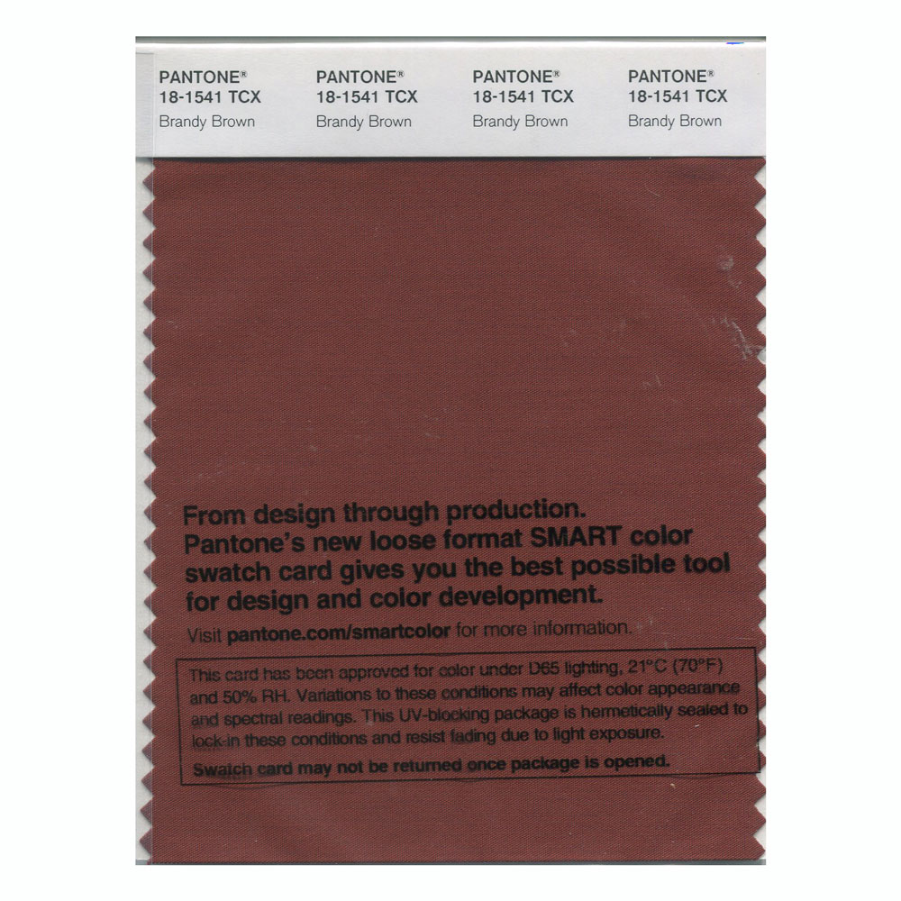 Pantone Smart Swatch 18-1541 Brandy Brown