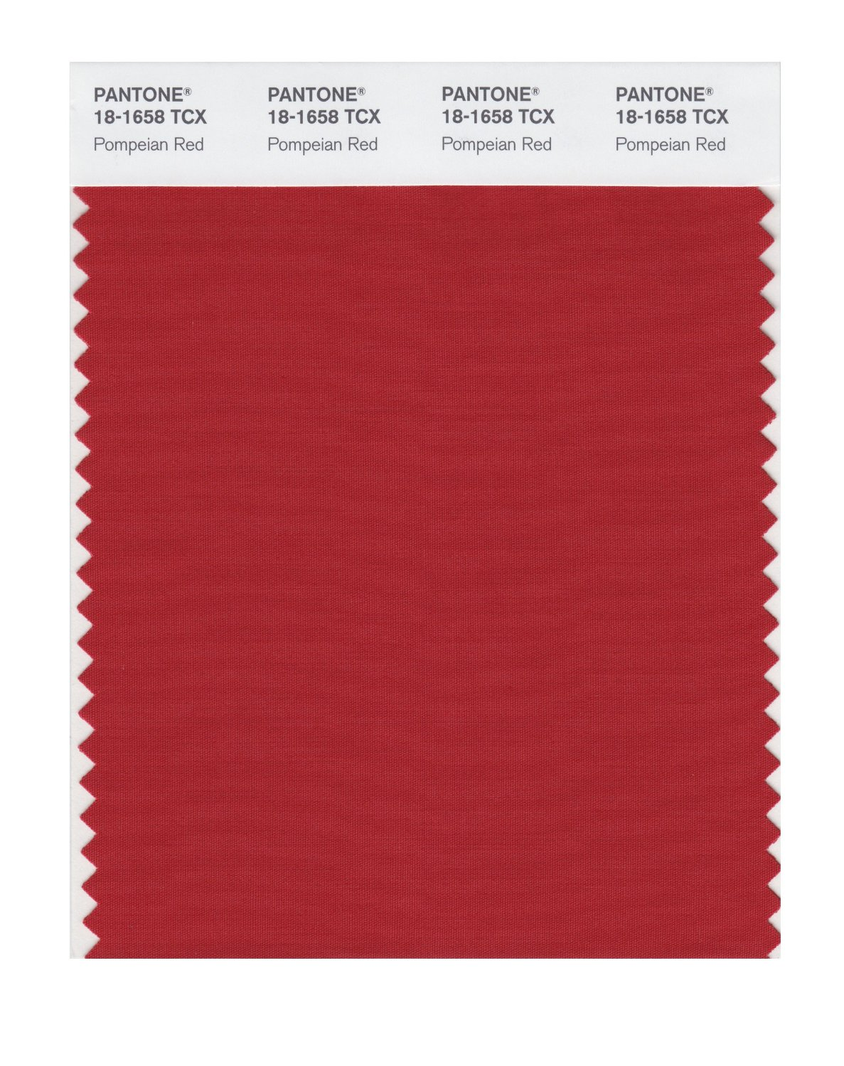 Pantone Smart Swatch 18-1658 Pompeian Red