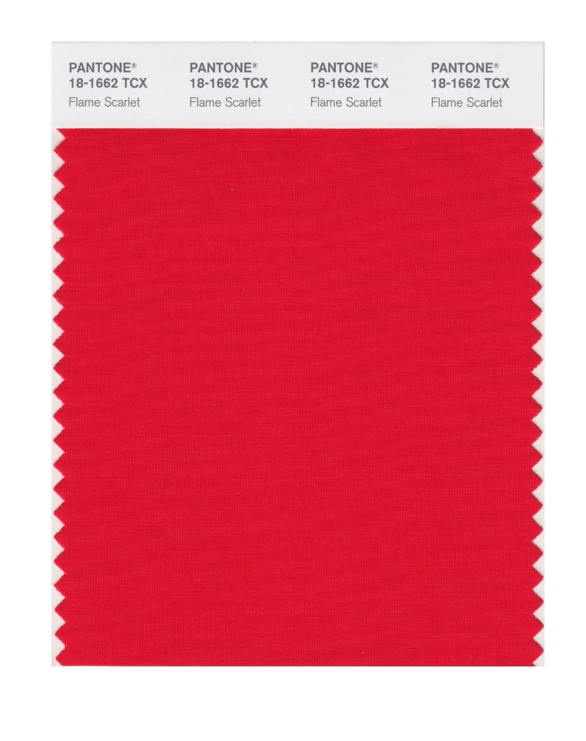 Pantone Smart Swatch 18-1662 Flame Scarlet