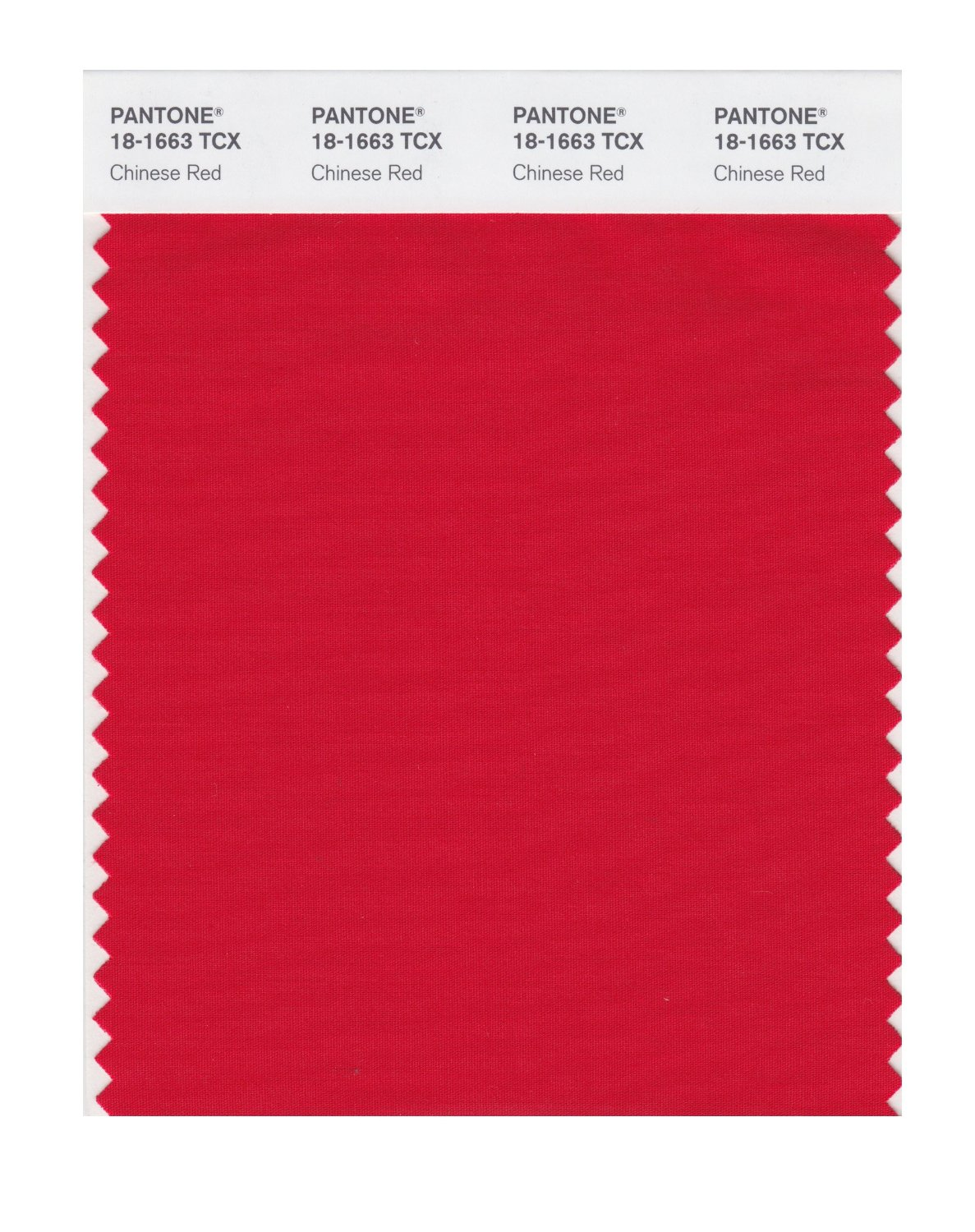 Pantone Smart Swatch 18-1663 Chinese Red