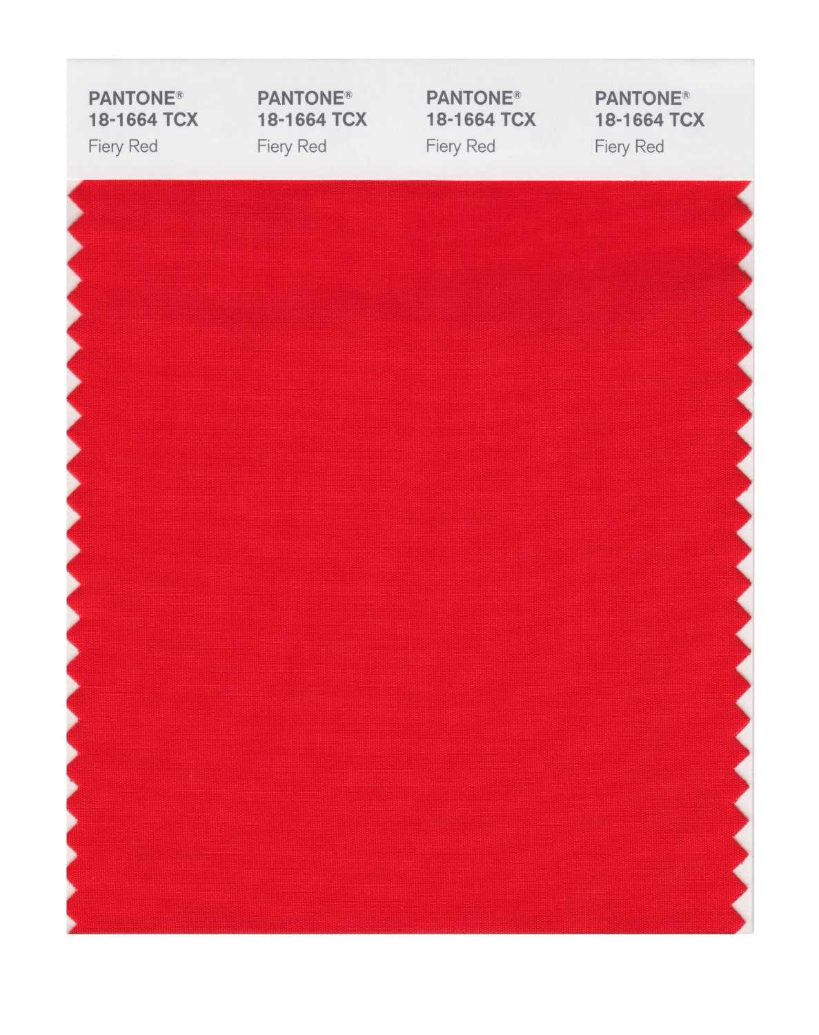 Pantone Smart Swatch 18-1664 Fiery Red