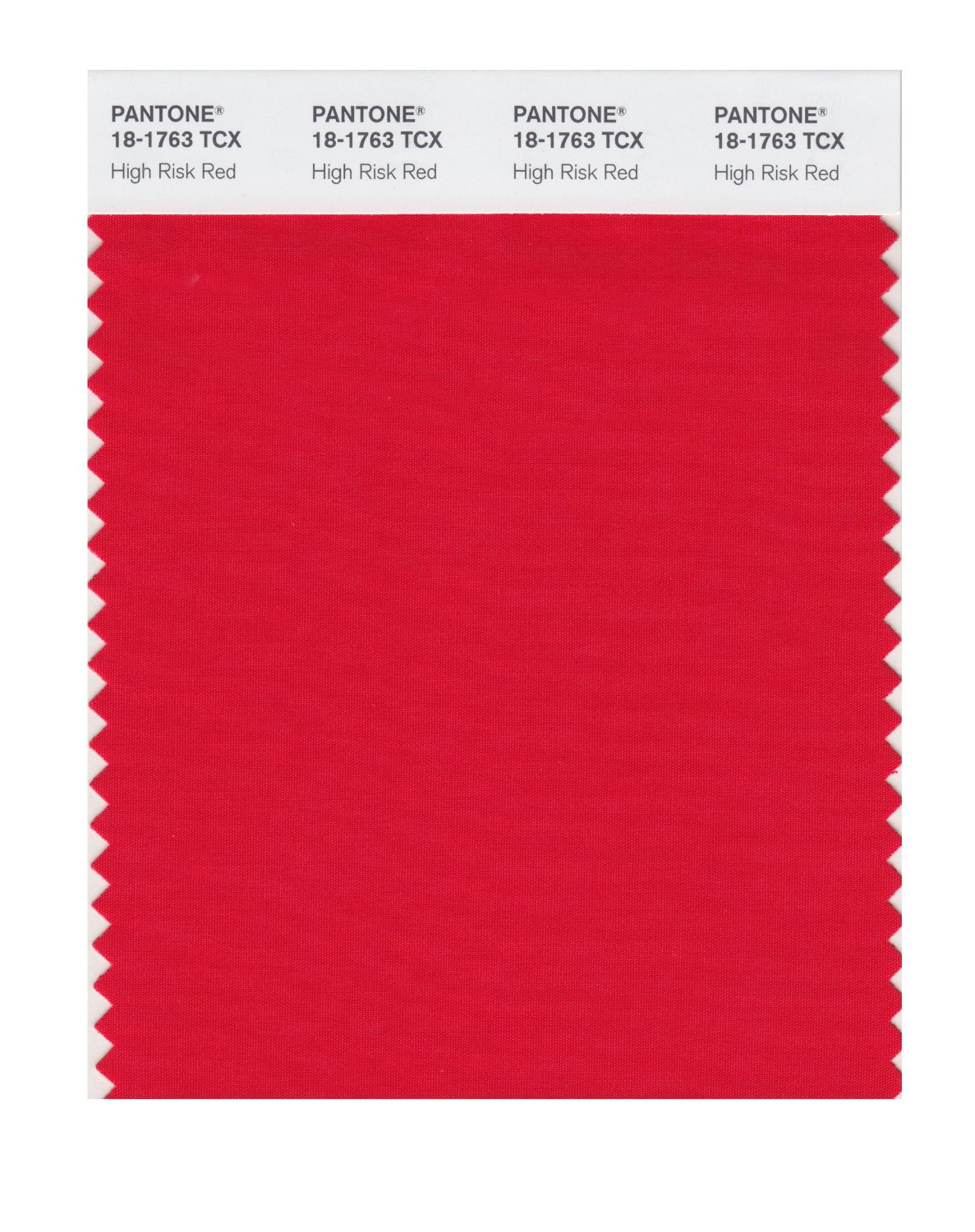 Pantone Smart Swatch 18-1763 High Risk Red