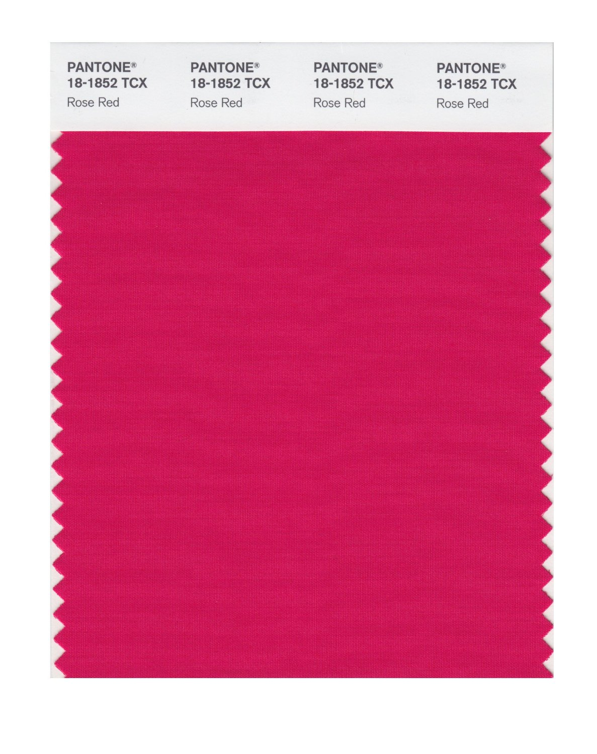 Pantone Smart Swatch 18-1852 Rose Red