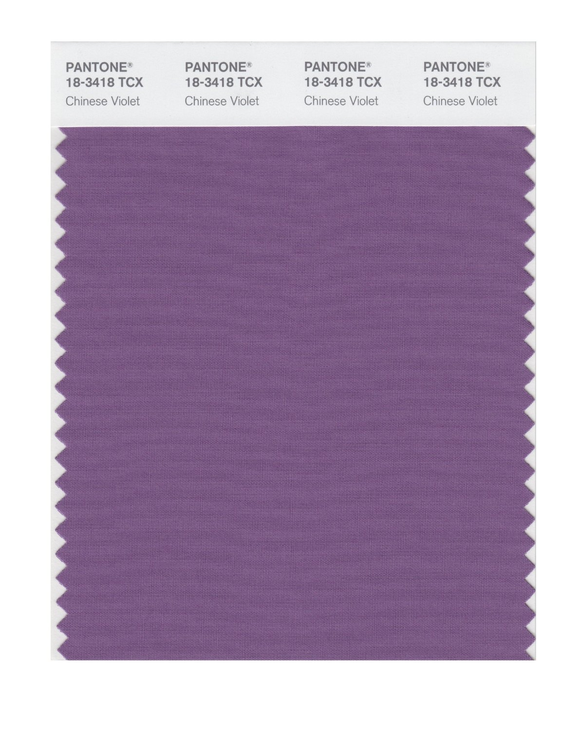 Pantone Smart Swatch 18-3418 Chinese Violet