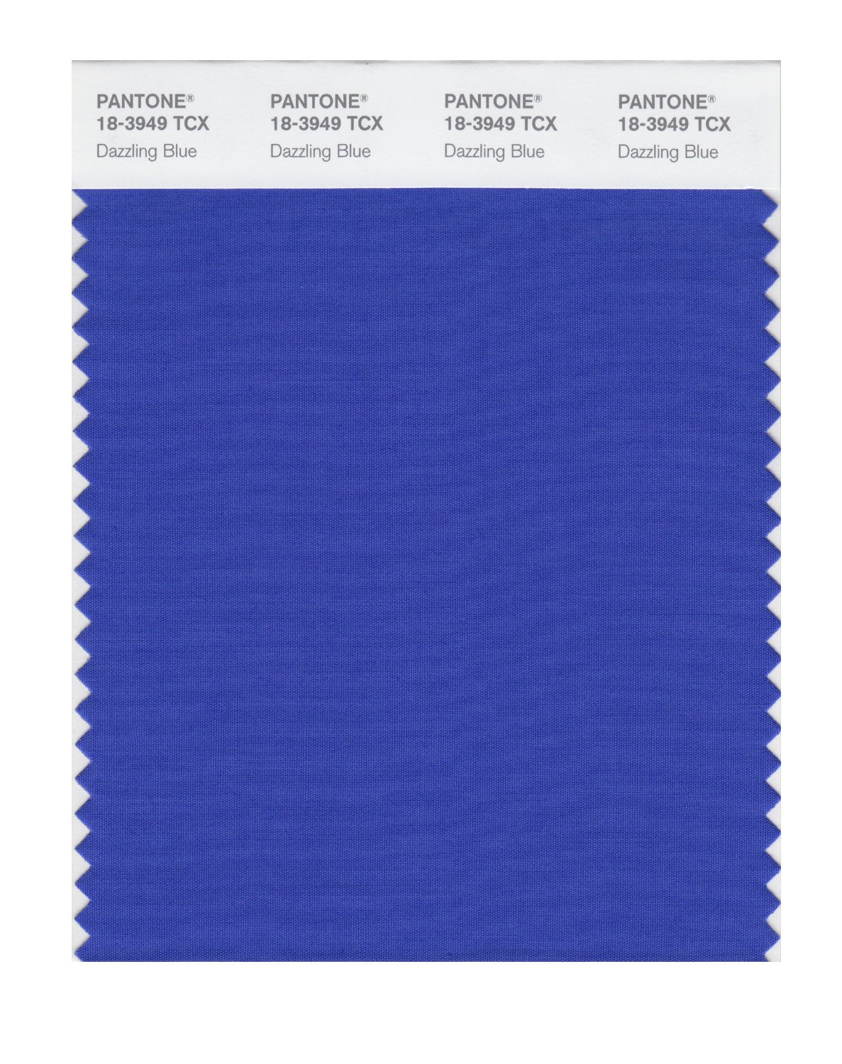 Pantone Smart Swatch 18-3949 Dazzling Blue