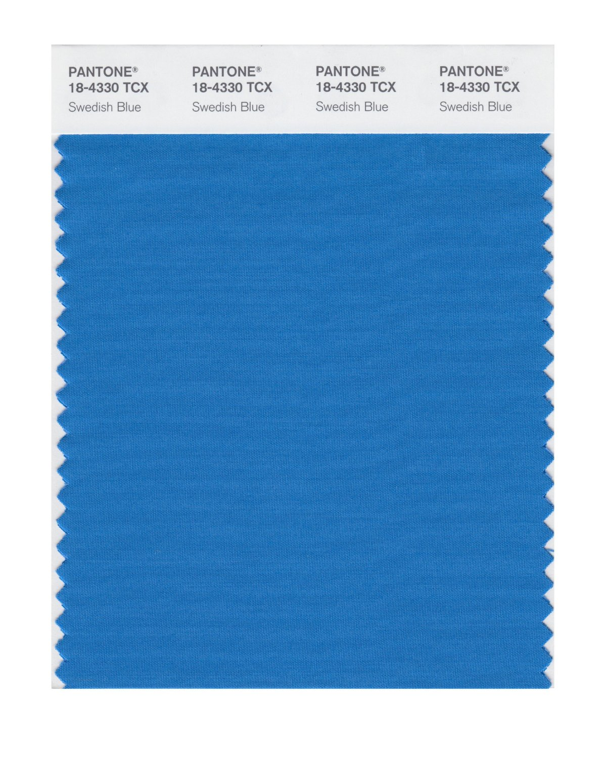 Pantone Smart Swatch 18-4330 Swedish Blue