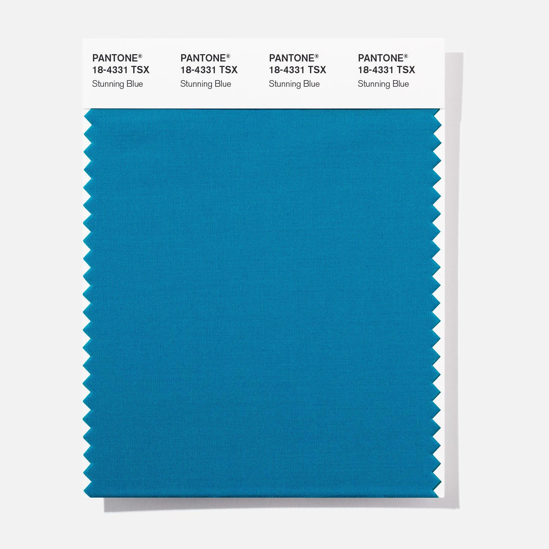 Pantone Polyester Swatch 18 4331 Stunning Blu