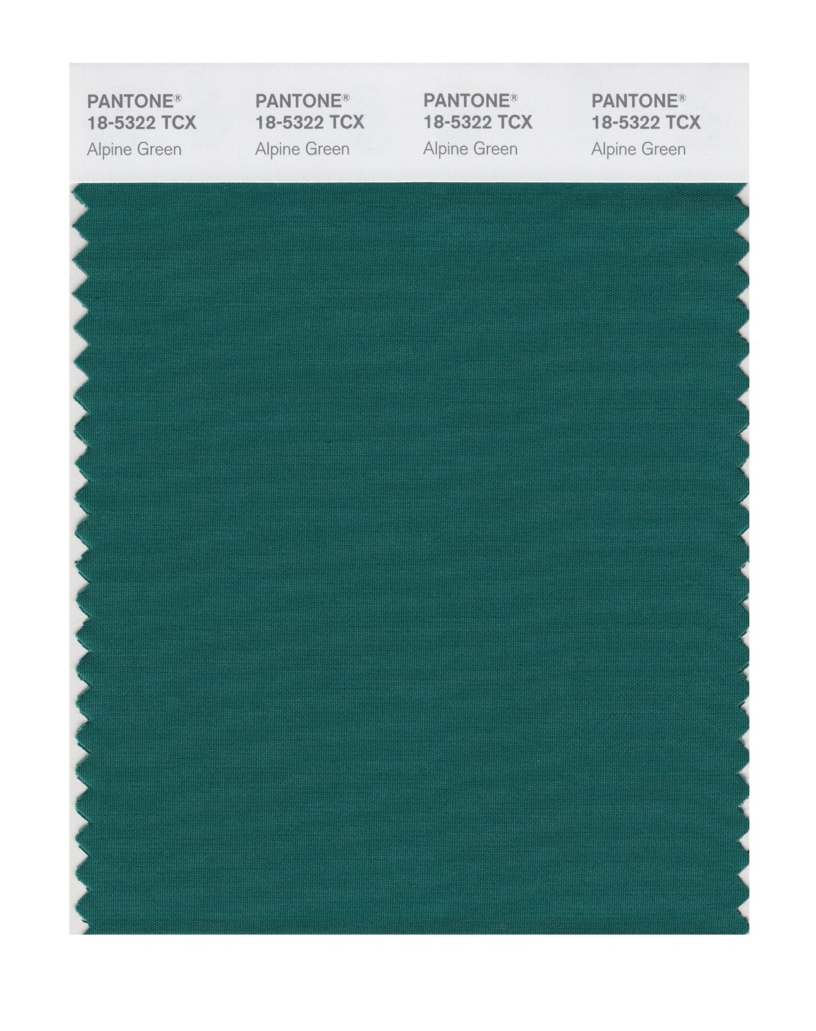 Pantone Smart Swatch 18-5322 Alpine Green