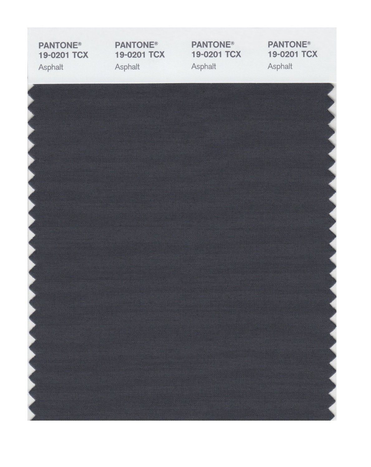 Pantone Smart Swatch 19-0201 Asphalt