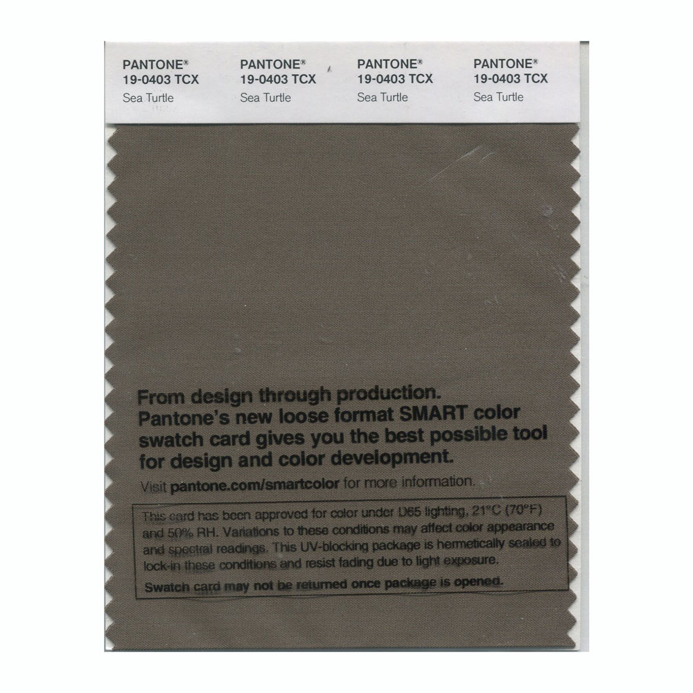 Pantone Smart Swatch 19-0403 Sea Turtle