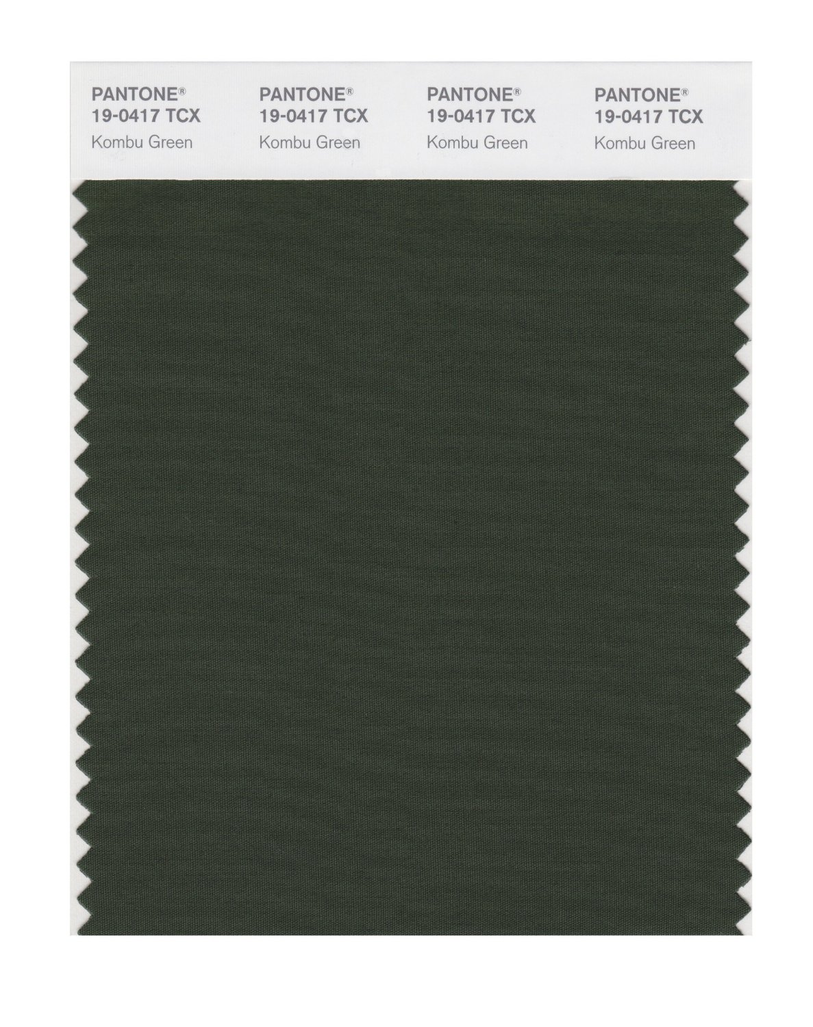 Pantone Smart Swatch 19-0417 Kombu Green