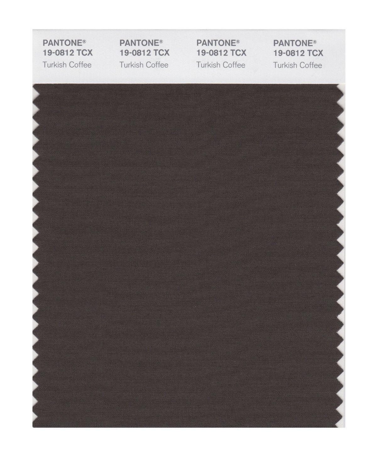 Pantone Smart Swatch 19-0812 Turkish Coffee