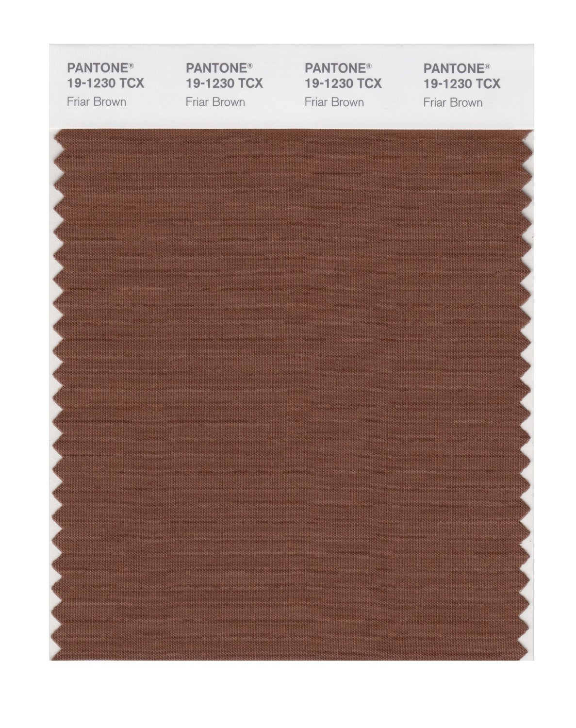 Pantone Smart Swatch 19-1230 Friar Brown