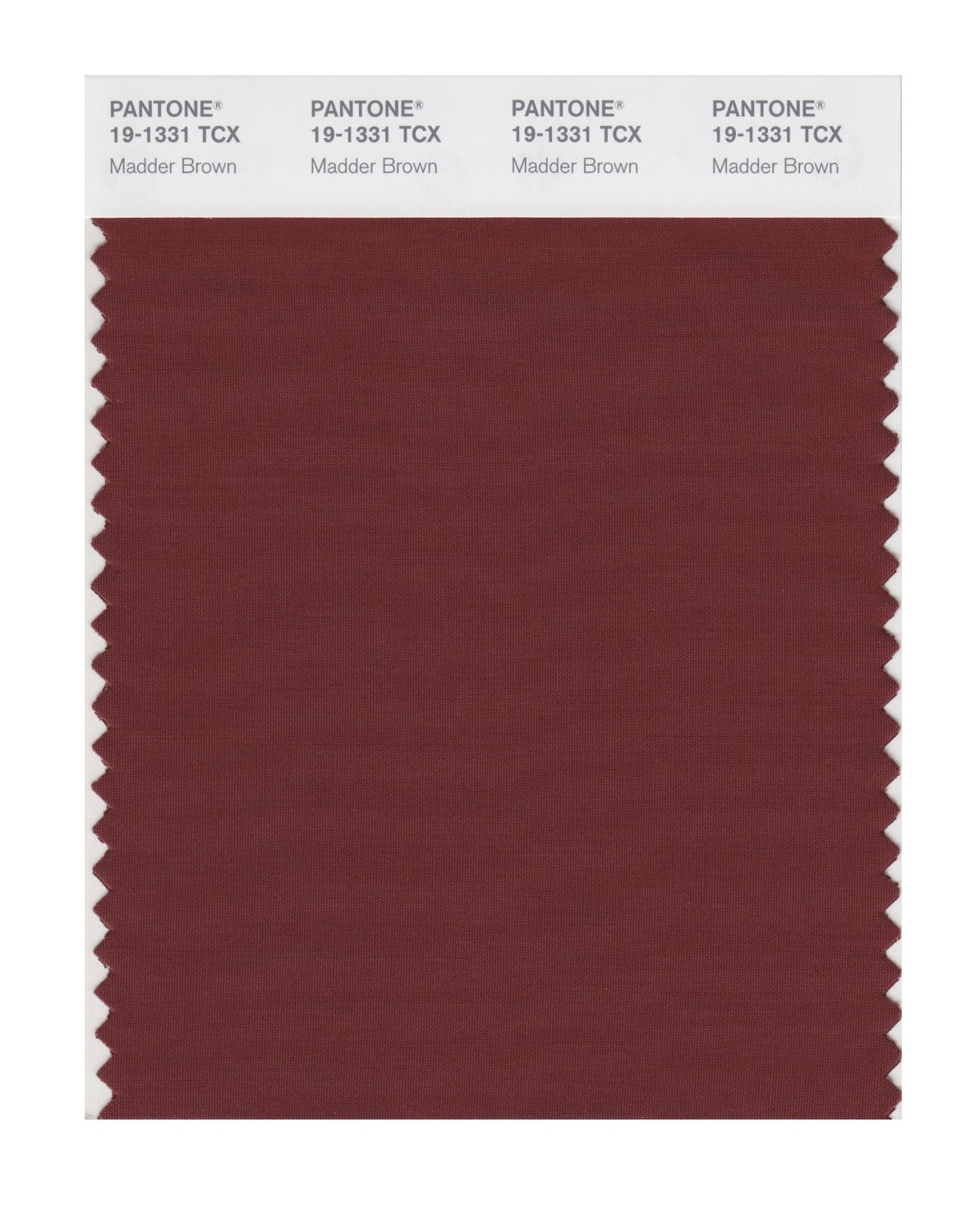 Pantone Smart Swatch 19-1331 Madder Brown