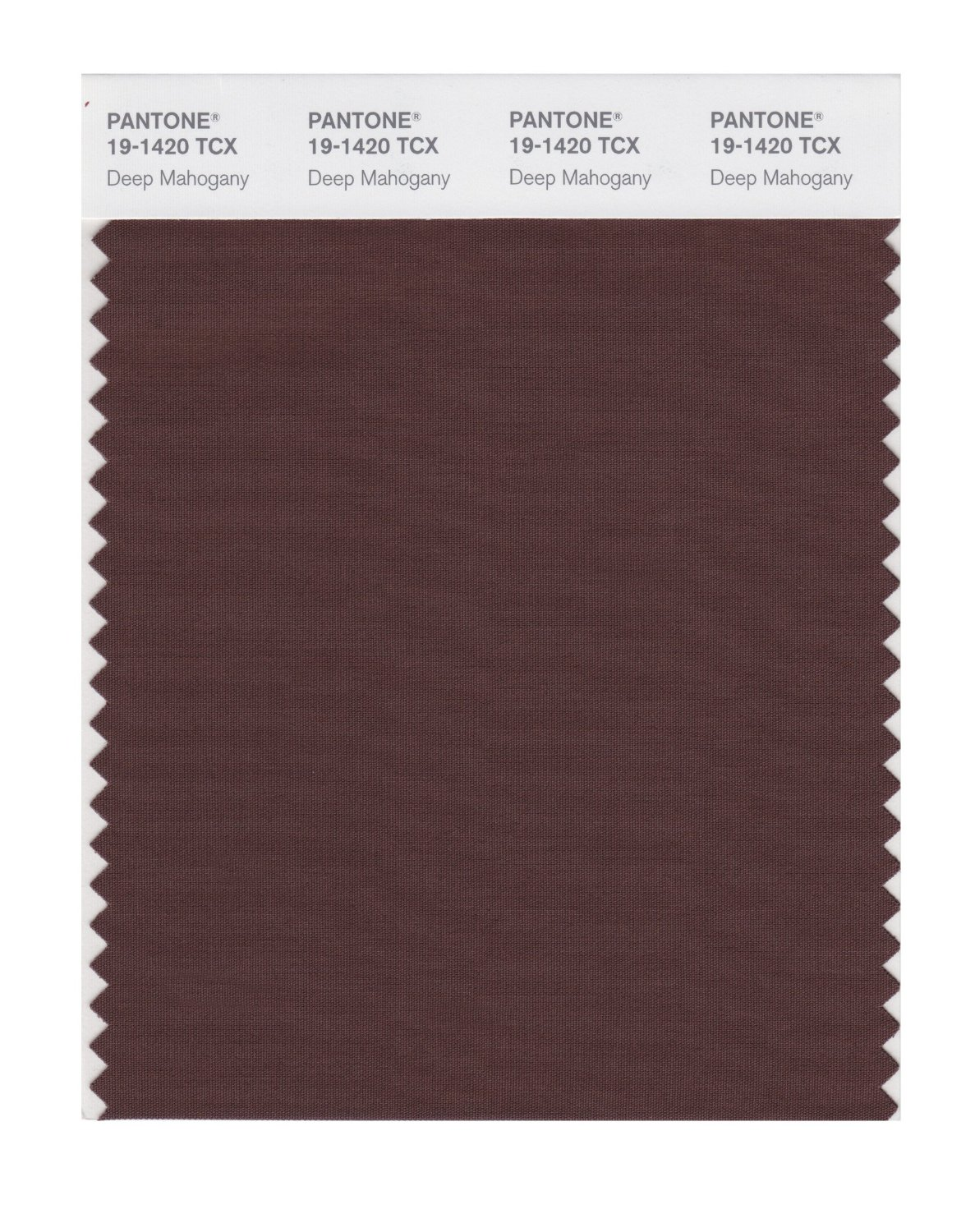 Pantone Smart Swatch 19-1420 Deep Mahogany
