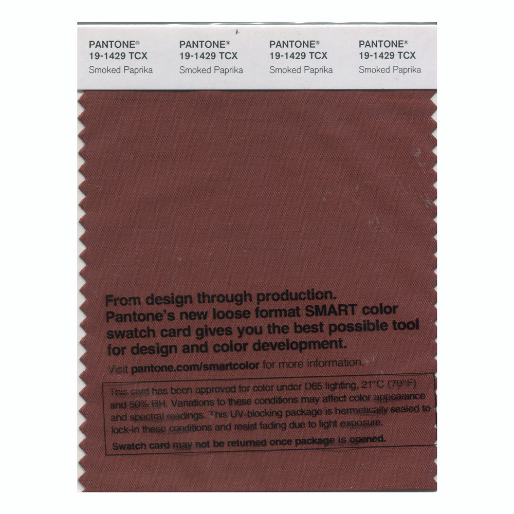 Pantone Smart Swatch 19-1429 Smoked Paprika