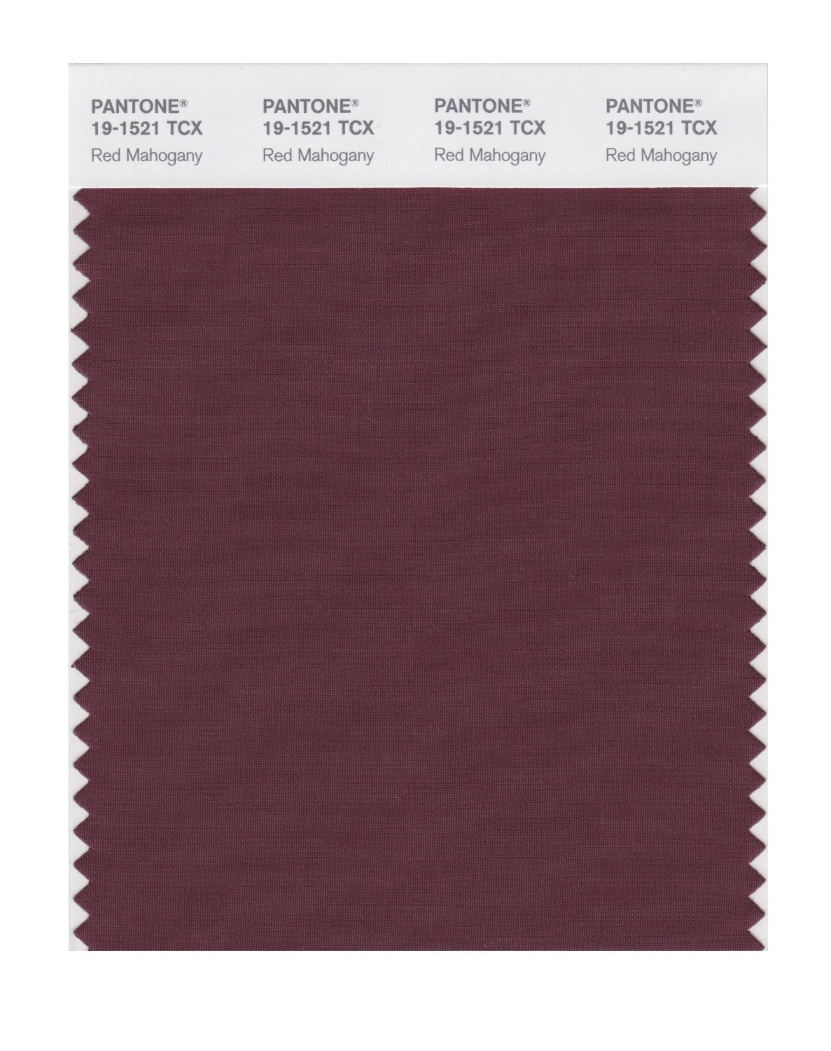 Pantone Smart Swatch 19-1521 Red Mahogany