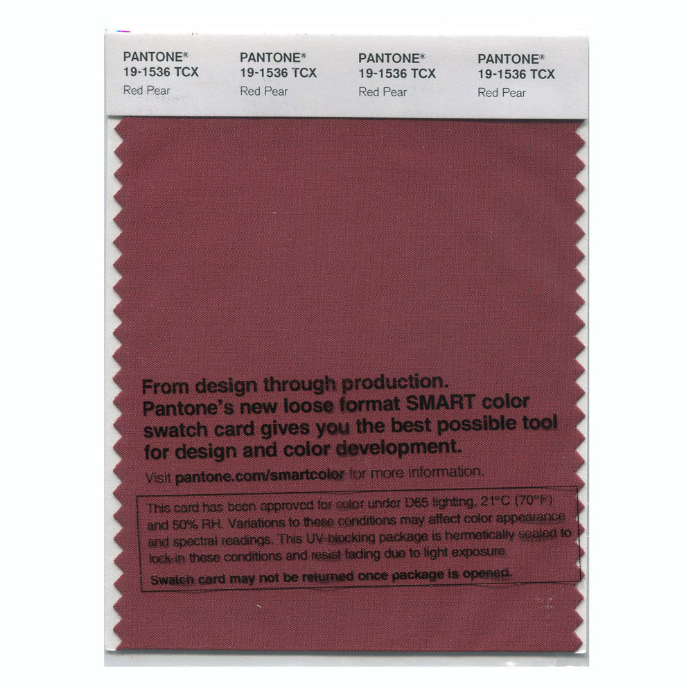 Pantone Smart Swatch 19-1536 Red Pear