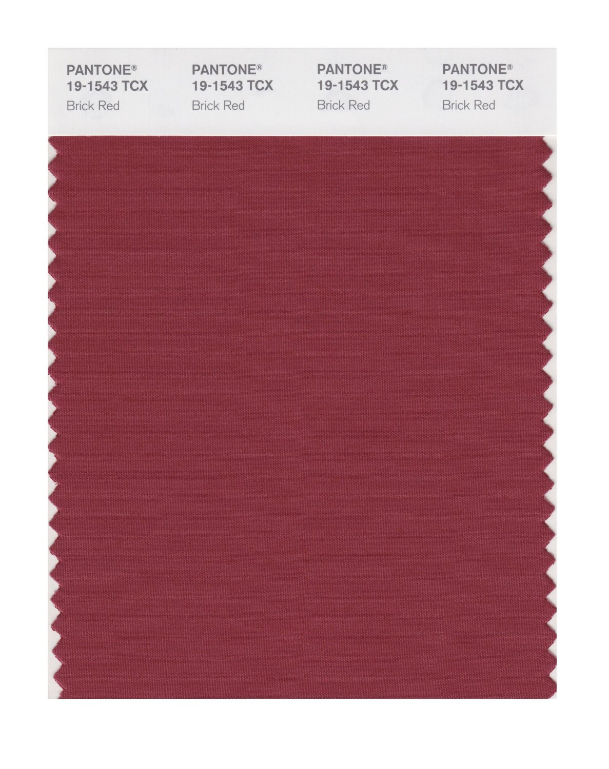 Pantone Smart Swatch 19-1543 Brick Red